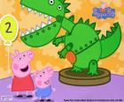 Peppa Pig en de dinosaurus