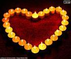 Hart van kaarsen