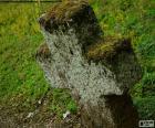 Stone cross. De meest populaire symbool van het christendom