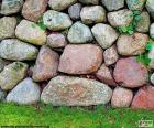 Tuin stenen muur