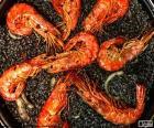 Zwarte paella