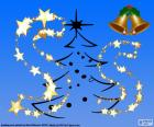 De letter S, ingericht voor Kerstmis, hoofdletters en kleine letters