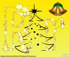 Letter R Kerstmis achtergrond