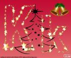 Kerstmis achtergrond, letter K