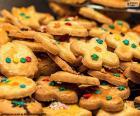 Gedecoreerde koekjes, Kerstmis