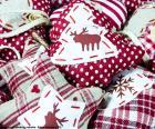Kerst ornamenten, stof