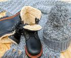 Zwarte winter laarzen