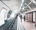 Het station van de metro van Londen