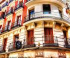 Gevel gebouw in Madrid