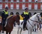 Gemeentelijke politie te paard, Madrid