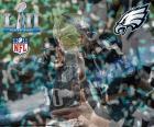 Philadelphia Eagles, kampioenen van de Super Bowl 2018 de New England Patriots 41-33 te verslaan. Dit is zijn eerste Super Bowl