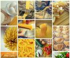 Collage van pasta