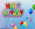 Happy Birthday, gelukkige verjaardag