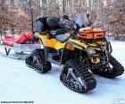 Sneeuwscooter van redding