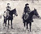 Twee vrouwen cowboy