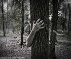 puzzel Het bos van horror