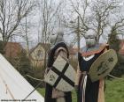 Twee soldaten van de Middeleeuwen