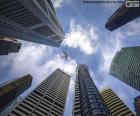 De wolkenkrabbers van Singapore