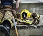 Het rusten van de brandman