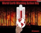 28 januari is het World Earth Warming Action Day, dat tot doel heeft de CO2-uitstoot in de atmosfeer die bekend staat als broeikasgassen te verminderen
