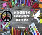 Schooldag van geweldloosheid en vrede