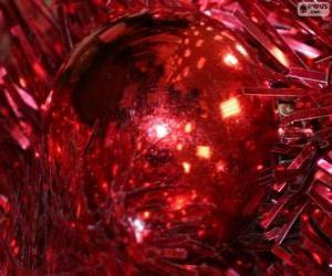 puzzel Red Christmas bal