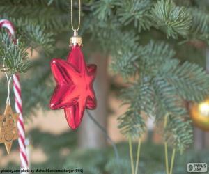 puzzel Red Kerstster