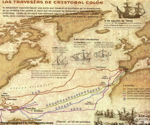 puzzel Reizen van Christoffel Columbus