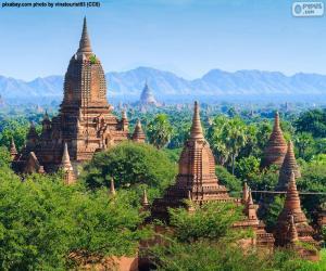 puzzel Religieuze gebouwen van Bagan, Myanmar