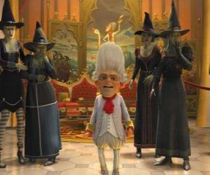 puzzel Repelsteeltje is de koning met een heks ejérctio uw bestellingen