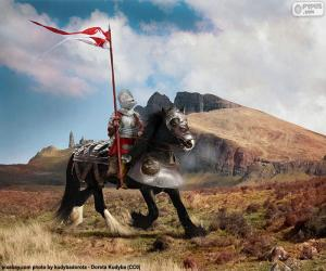 puzzel Ridder te paard