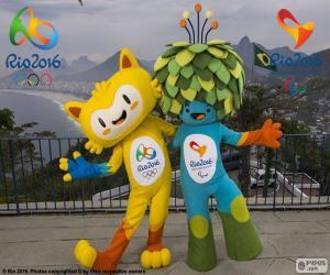 puzzel Rio 2016 Olympische Mascottes