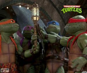 puzzel Riolen, de Mutant Ninja Turtles