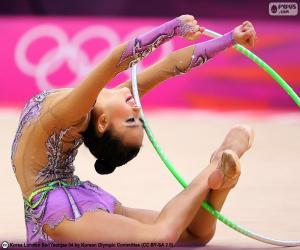 puzzel Ritmische gymnastiek met hoepel
