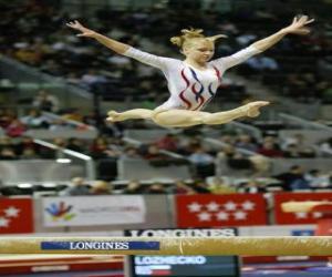 puzzel Ritmische gymnastiek - Oefening in de balk