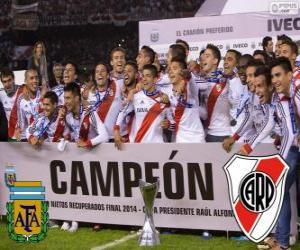 puzzel River Plate, kampioen Torneo definitieve Argentiniën 2014