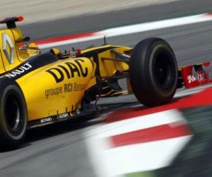 puzzel Robert Kubica - Renault - Barcelona 2010