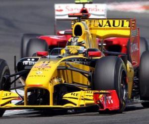 puzzel Robert Kubica - Renault F1 - Silverstone 2010