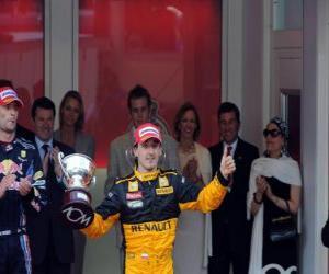 puzzel Robert Kubica - Renault - Monte-Carlo 2010 (staat op de 3e)
