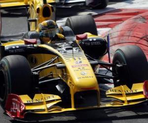 puzzel Robert Kubica - Renault - Monza 2010