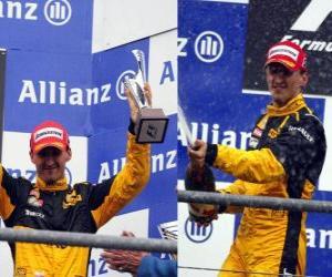 puzzel Robert Kubica - Renault - Spa-Francorchamps, België Grand Prix 2010 (staat op de 3e)