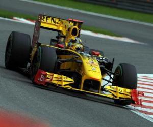 puzzel Robert Kubica - Renault - Spa-Francorchamps 2010