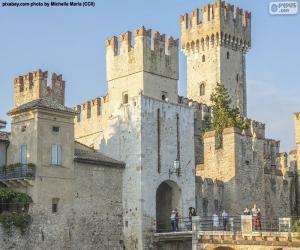 puzzel Rocca Scaligera, Italië