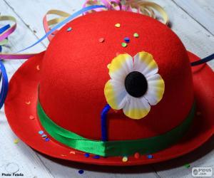 puzzel Rode bolhoed met een bloem