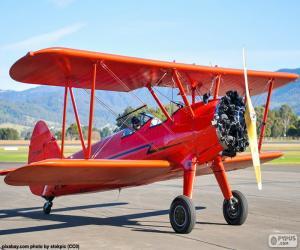 puzzel Rode dubbeldekker-vliegtuigen