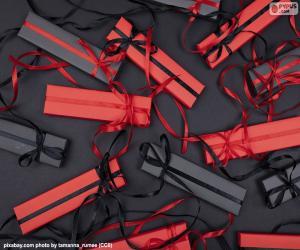 puzzel Rode en zwarte giften