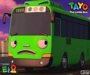 puzzel ROGI is een grappig en ondeugende groene bus