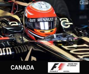 puzzel Romain Grosjean - Lotus - Circuit Gilles Villeneuve, Montréal, 2013