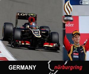 puzzel Romain Grosjean - Lotus - Grand Prix Duitsland 2013, 3e ingedeeld