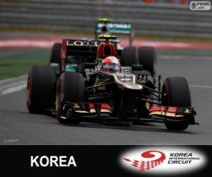 puzzel Romain Grosjean - Lotus - Grand Prix van Korea 2013, 3e ingedeeld